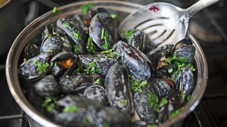 Moules Mariniere are one of Brussels' most popular mussel dishes