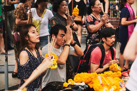 People pray at Bangkok's shrines for many reasons