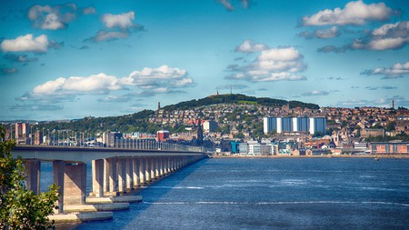 The Tay Road bridge to Dundee