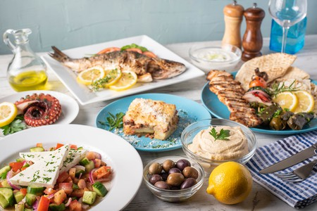 Fresh produce and flavours abound in Greek cuisine