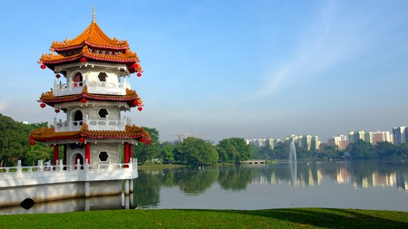 The Chinese Garden is one of many green spaces in Singapore