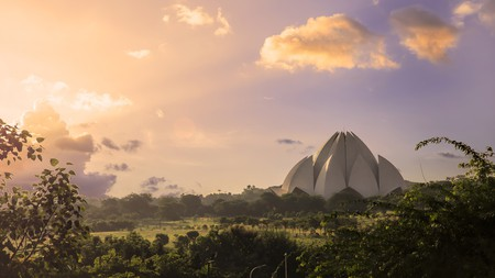The Bahá'í Lotus Temple is just one of New Delhi's many draws