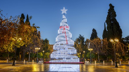 Christmas in Syntagma square, Athens, Greece