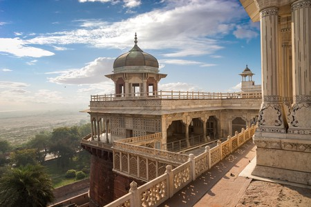 Agra Fort is a UNESCO World Heritage Site at Agra, India