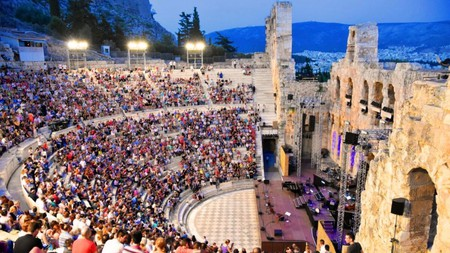 The Odeon of Herodes Atticus has been sitting beneath the Acropolis since the second century and still hosts performances today