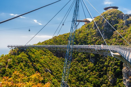 Follow the Langkawi Skybridge to get panoramic views of the valley and the 708-metre-high (2,300-foot-high) cable car