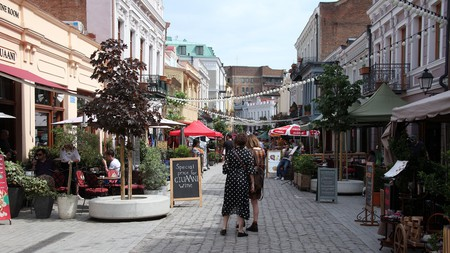Tbilisi's Agmashenebeli Avenue is packed with a plethora of cafés and wine bars