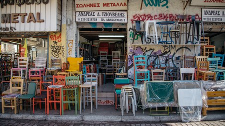 The antique market at Avissinias Square has been running for over a century