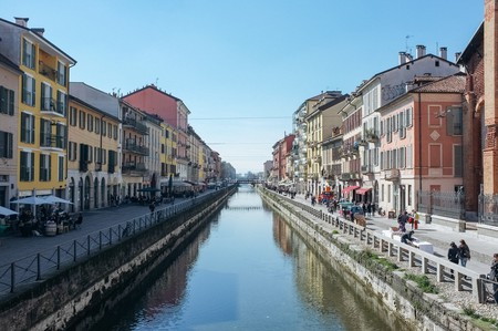 Navigli, Milan is home to many delicious dining options
