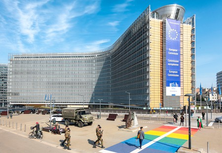 The Berlaymont Building, a former convent, is now home to the headquarters of the European Commission in Brussels