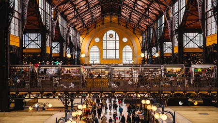 Central Market Hall is Budapest's largest food market