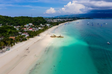Boracay's famous White Beach is less crowded these days, with a limit of just over 5,000 tourists permitted on the island each day