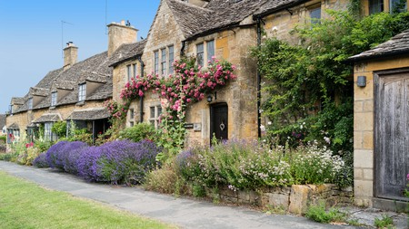 Stone cottages are commonplace in the Cotswold village of Broadway