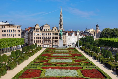 Mont des Arts is a beautiful site between the Royal Palace and Grand-Place