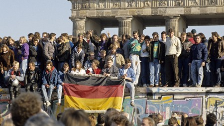 The Iron Curtain fell with the fall of the Berlin Wall