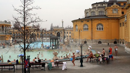 Keep warm during the cold winter months at Budapest's Széchenyi Thermal Bath