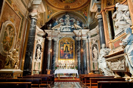 Many of Rome's most magnificent artworks can be found in churches such as Santa Maria sopra Minerva Basilica