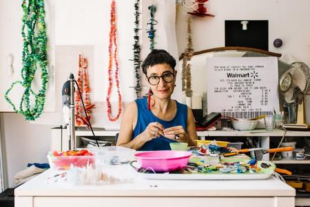 Sydney-based artist Rox De Luca in her studio in Bondi, Sydney