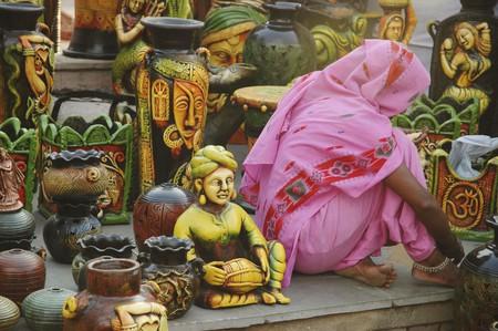 Delhi, India: handicrafts on sale at Dilli Haat market