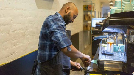 India has plenty of excellent baristas, like those working at the Blue Tokai coffee shop in Champa Gali