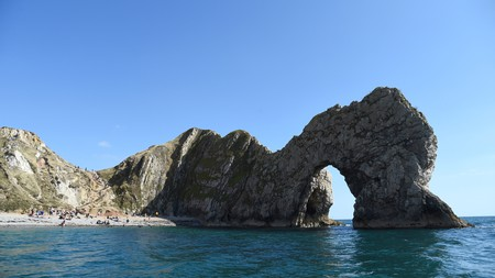 The natural rock arch of Durdle Door in Dorset is a sight to behold