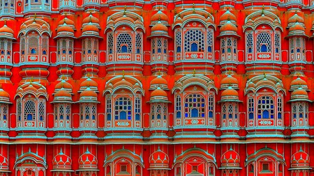 See the splendid pink palace, Hawa Mahal, on a day trip from Delhi