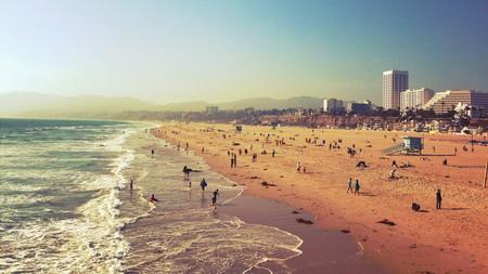 Santa Monica beach is the perfect spot for a swim in LA