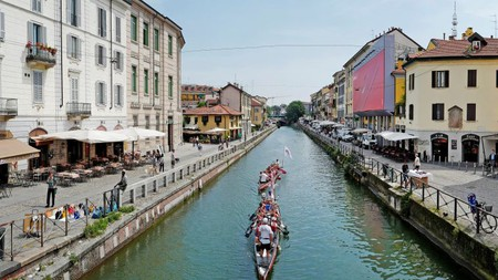 Milan's Navigli district is a good spot to spend some time