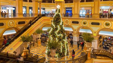 Christmas Tree at Venetian Hotel, Macao, China