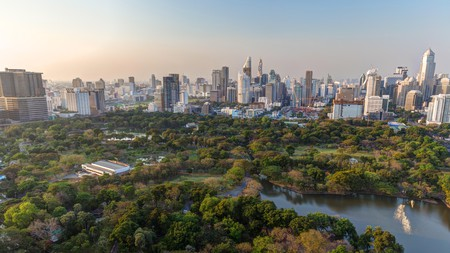 Lumpini Park provides a welcome relief from the Bangkok crowds