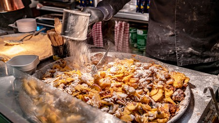 Traditional Austrian Kaiserschmarrn at Salzburg Christmas Market