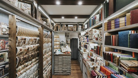 Bomo Art offers a wide range of stylish leather-bound stationery, decorated in turn-of-the-century style