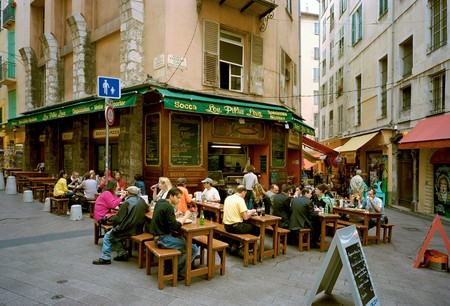 Grab a seat in Nice's old town and try a traditional socca
