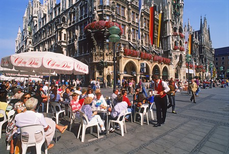 Sip on a coffee in Marienplatz while you explore the beautiful city of Munich