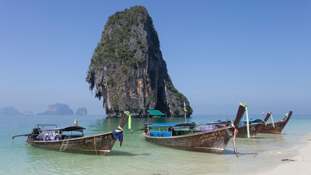 The beaches around Ao Nang offer up stunning scenes of an idyllic Thailand