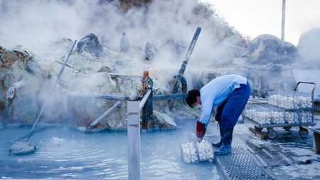The eggs cooked in the volcanic hot springs at Ōwakudani are believed to have medicinal benefits