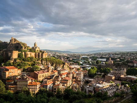 Get a bird's eye view of Tbilisi's diverse architecture from the Narikala fortress
