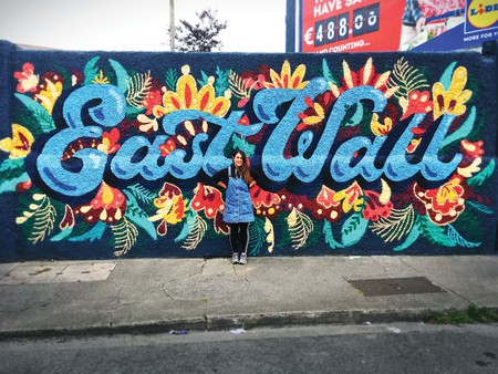 Dublin-based street artists like Holly Pereira often have to leave the city to find a home for their work