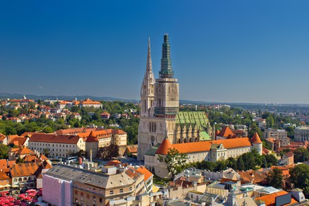 Enjoy the views from Zagreb cathedral