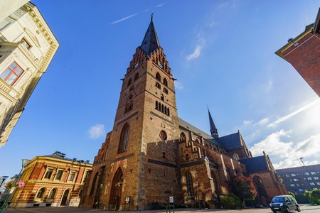 The beautiful and historical Tradesmen's Chapel of Malmo, Sweden