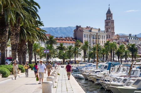 Split's Riva is the city's social hub, and an excellent place for people-watching