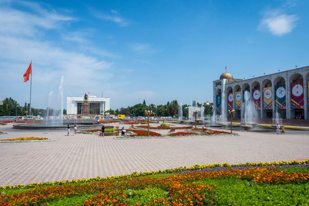 Ala-Too Square is the central square in Bishkek