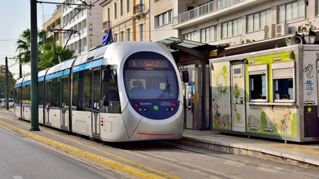 The Athens Coastal Tram links Syntagma Square with beaches on the Athenian Riviera