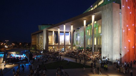 The Palace of Arts (Müpa) is one of Hungary's principal cultural hubs