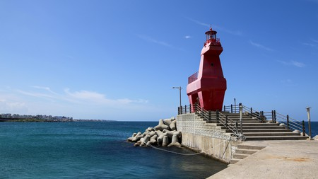 Iho Lighthouse standing bold against the blue sky makes for a great photo