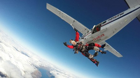 Jump out of a perfectly good aeroplane on a skydiving adventure over Queenstown