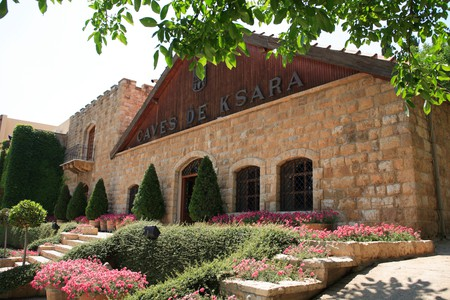 Chateau Ksara Winery is famous for using the Roman caves as natural wine cellars in Beqaa Valley in southern Lebanon