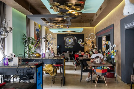 Bonk is both a vibrant café and a bike shop
