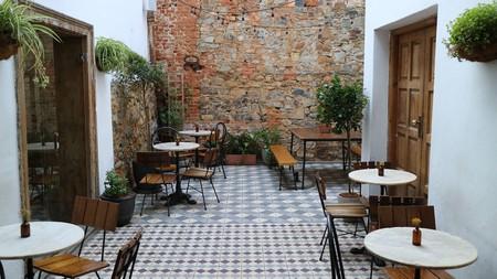Courtyard at The Gin Bar, Cape Town.