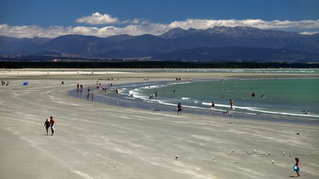 Tahunanui Beach in Nelson is a popular spot with residents and receives the most sunshine in New Zealand